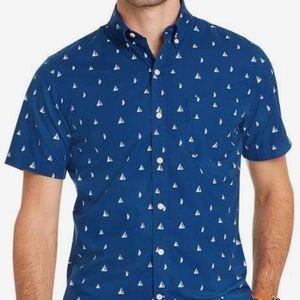 Cactus 🌵 slim fit boat 🚣♂️ print men's shirt 👕